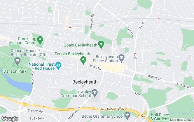Map for YOUR MOVE, Bexleyheath