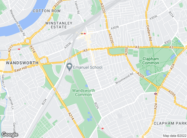 Map for Hamptons International Sales, Battersea & Wandsworth