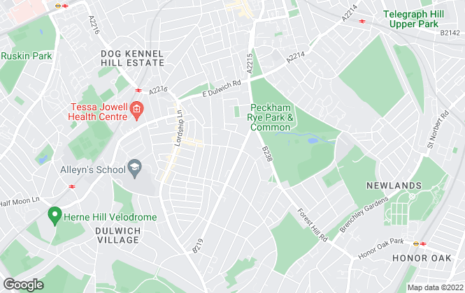 Map for Northwood, East Dulwich