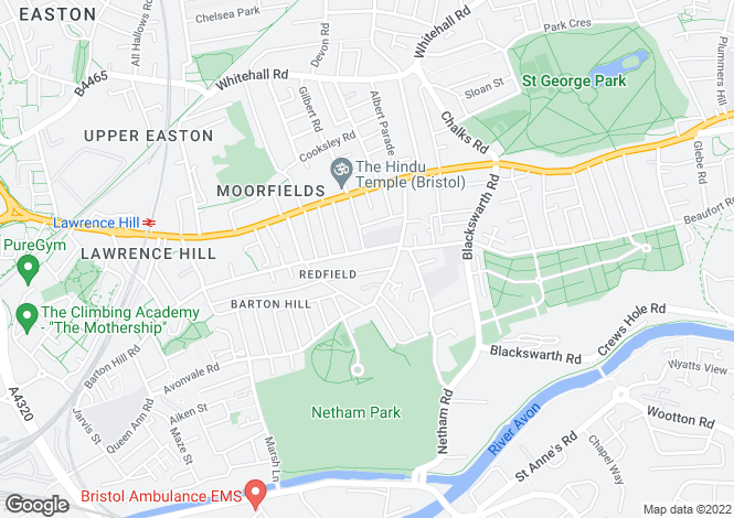 Map for Victoria Avenue, Redfield, BRISTOL