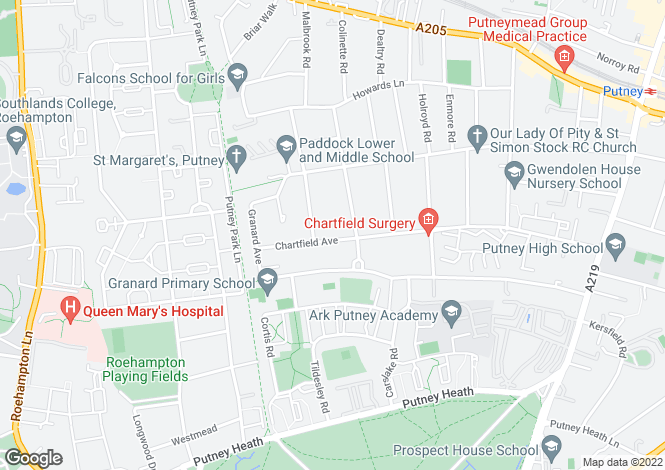 Map for Chartfield Avenue, Putney, London, SW15
