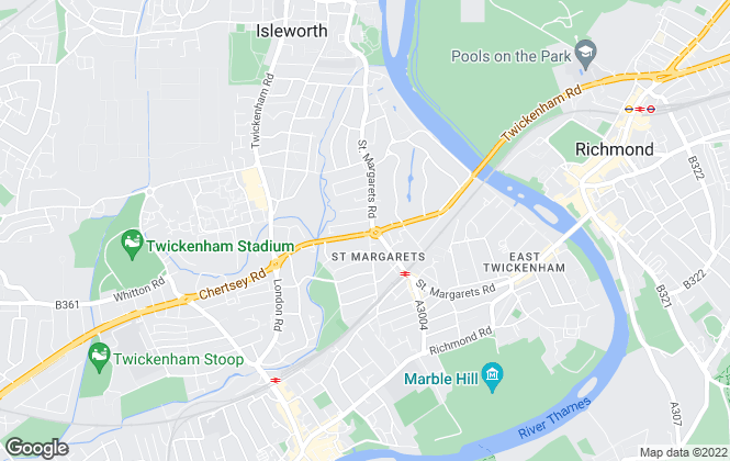 Map for Dexters, St Margarets