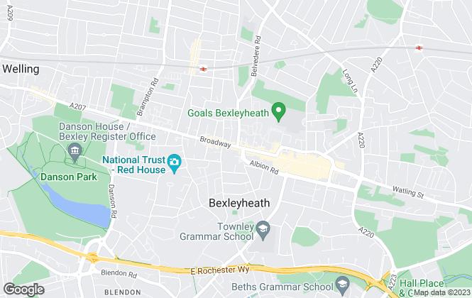 Map for Langley Chartered Surveyors, Bexleyheath