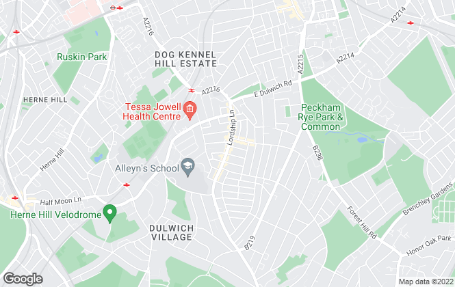 Map for Bushells, Dulwich