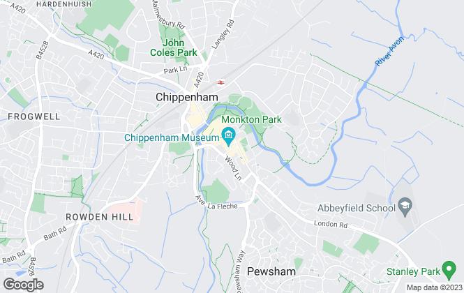 Map for Bailey & Passmore Properties Ltd , Chippenham