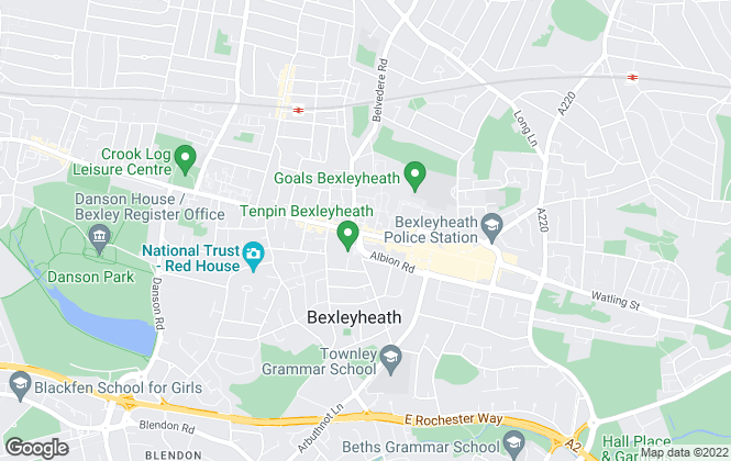 Map for tgbaynes, Bexleyheath