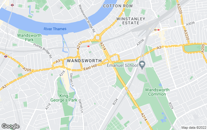 Map for Savills Lettings, Wandsworth