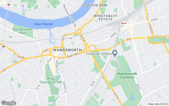 Map for Chestertons Estate Agents , Wandsworth