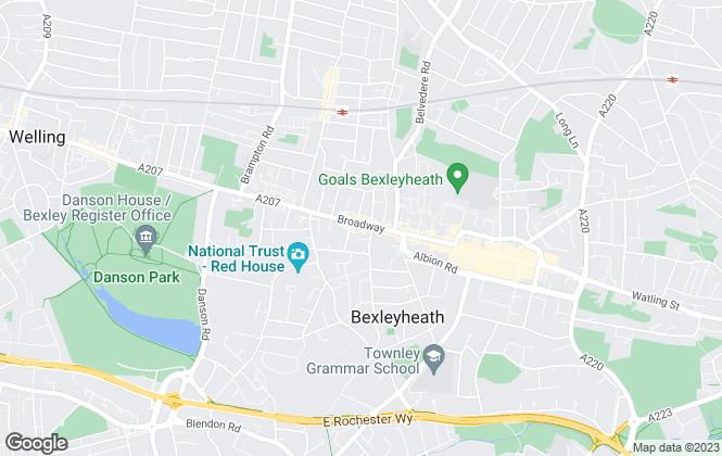 Map for William Theakston, Bexleyheath