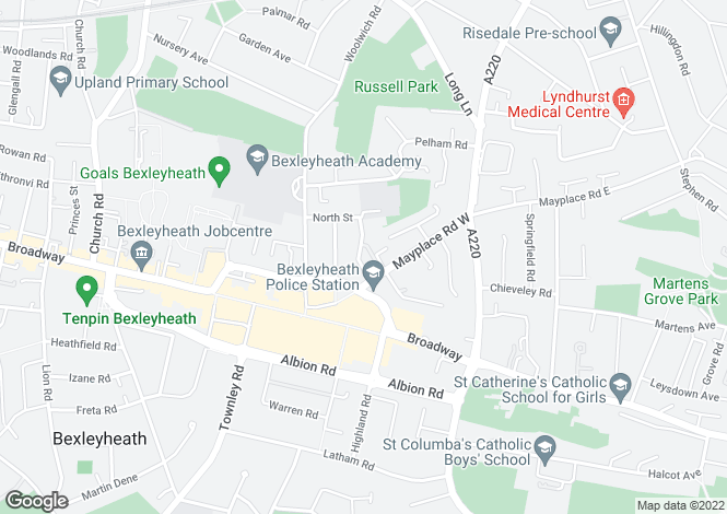 Map for Fern Court, East Street, Bexleyheath, DA7 4HJ