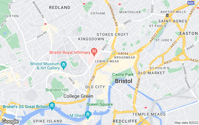 Map for Balloon Letting Company, Bristol
