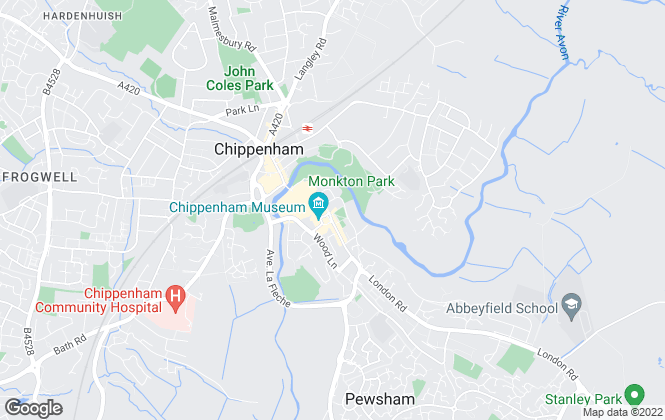 Map for Allen & Harris, Chippenham Lettings