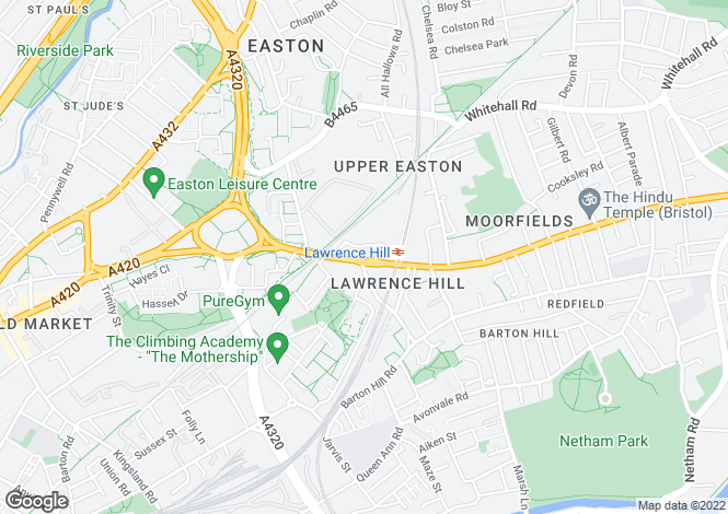 Map for Lawrence Hill, Bristol
