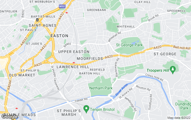 Map for Moorfield Estate Agents, Redfield