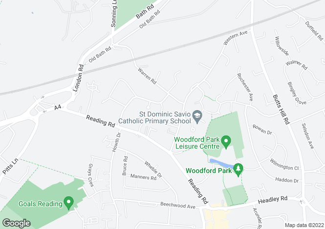 Map for Selcourt Close, Woodley