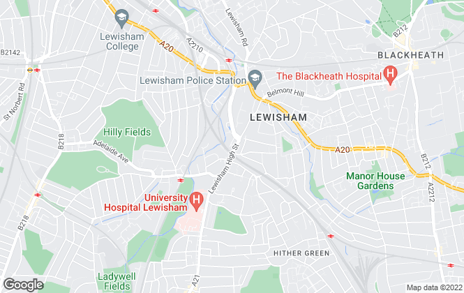 Map for Charles Knight Estate Agents, Lewisham
