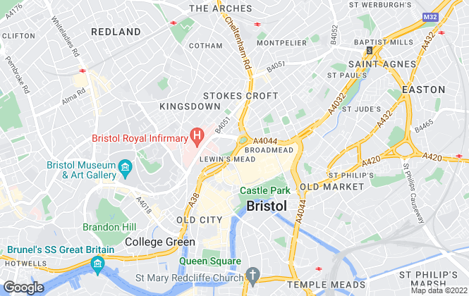 Map for Purplebricks, covering Bristol