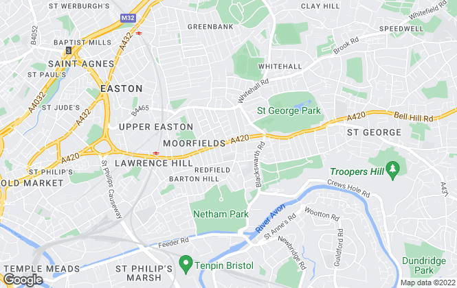 Map for Gregory & Main Estate Agents, Redfield