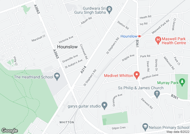 Map for St. Stephens Road,