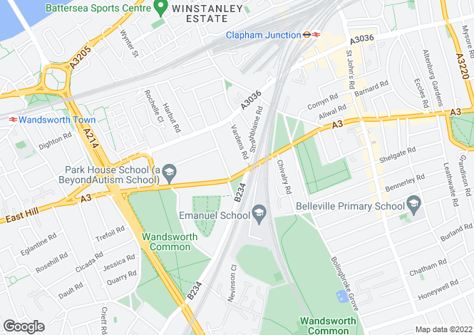 Map for Vestry Mews, Battersea, London