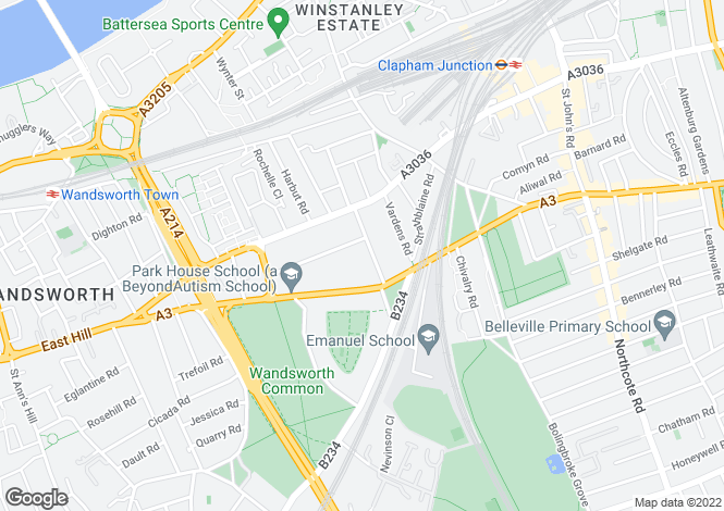 Map for Spencer Road, Wandsworth, London, SW18