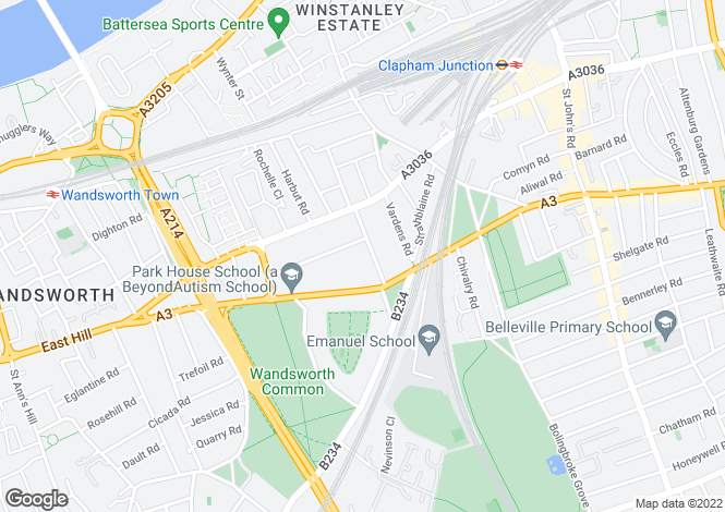 Map for Spencer Road, Wandsworth, London, SW18 2SW