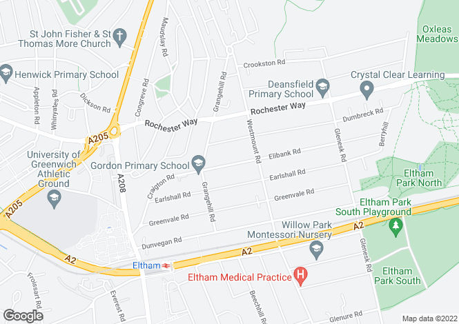 Map for Elibank Road, Eltham, SE9