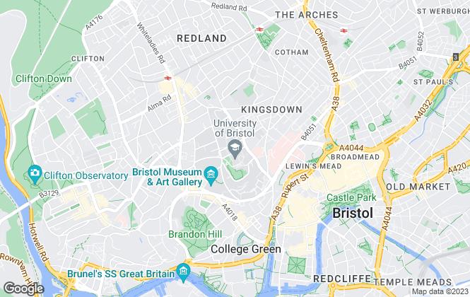 Map for Bristol SU Lettings, Bristol