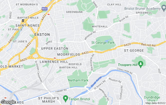 Map for Parks Estate Agents, Bristol