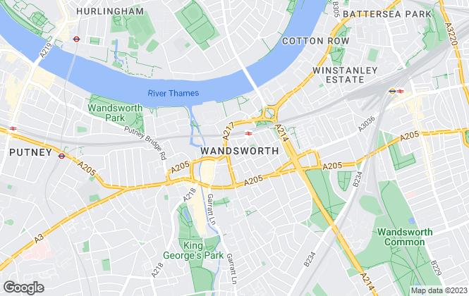 Map for James Pendleton, Wandsworth Town & Tonsleys