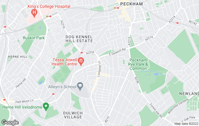 Map for Foxtons, Dulwich