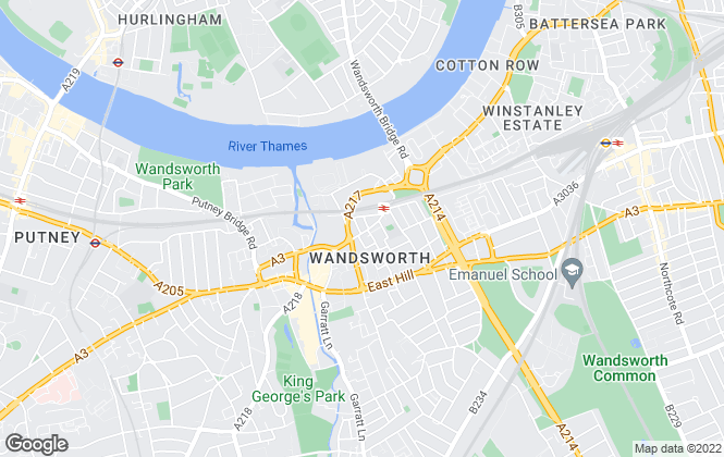 Map for First Union, Wandsworth