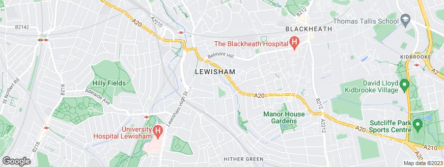 Map for Lewisham Gateway Developments Limited