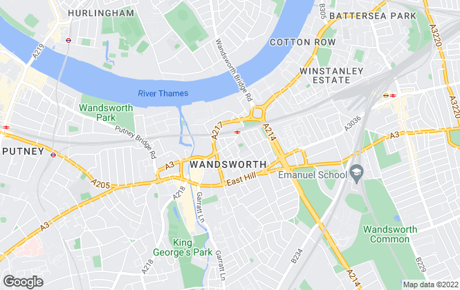 Map for James Pendleton, Wandsworth Town & Tonsleys