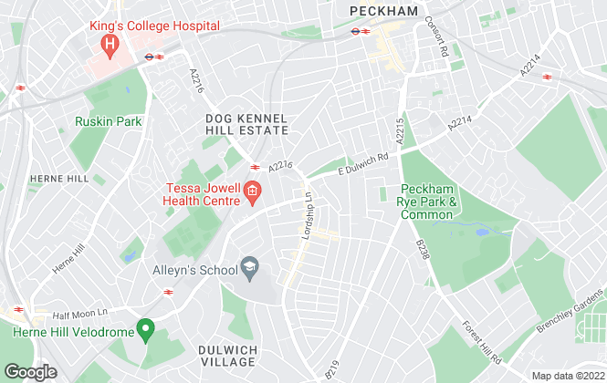 Map for Truepenny's Property Consultants, Dulwich
