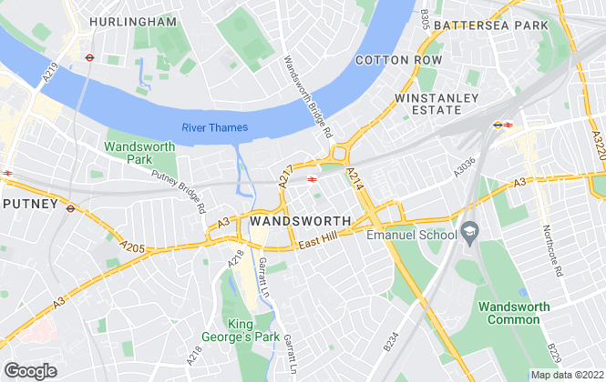 Map for Cound, Wandsworth