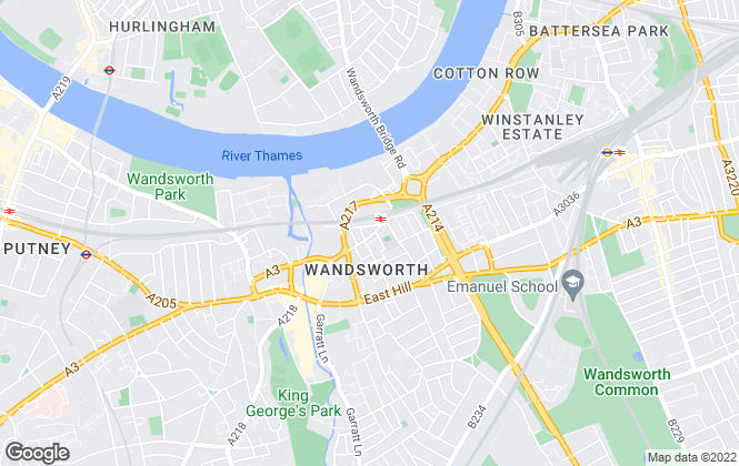 Map for Cound, Wandsworth - Lettings