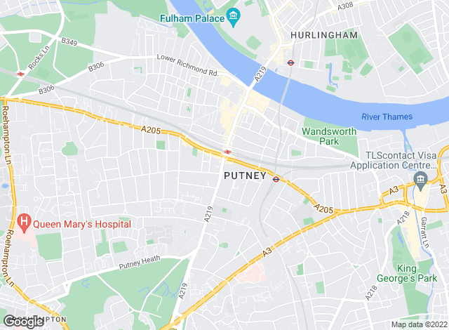 Map for Kinleigh Folkard & Hayward - Sales, Putney
