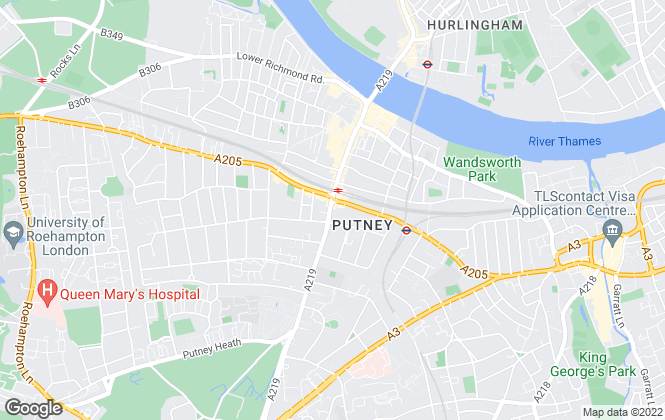 Map for Kinleigh Folkard & Hayward - Lettings, Putney