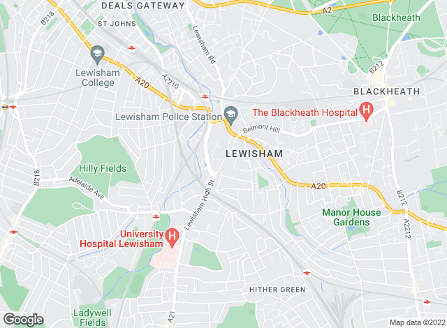 Map for Mann Countrywide, Lewisham