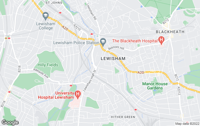 Map for Acorn, Lewisham