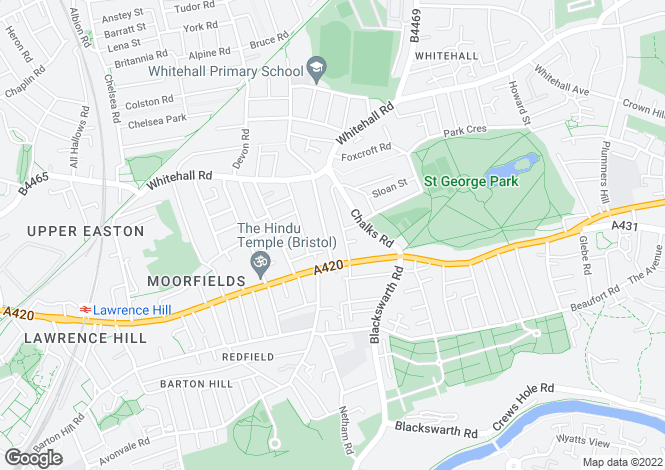 Map for Lyppiatt Road, Redfield, BRISTOL