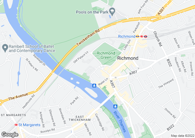 Map for The Green, Richmond, TW9