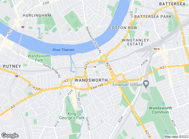 Map for Jacksons Estate Agents, Wandsworth