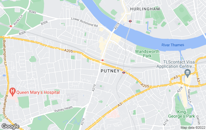 Map for Fine & Country Putney, Putney