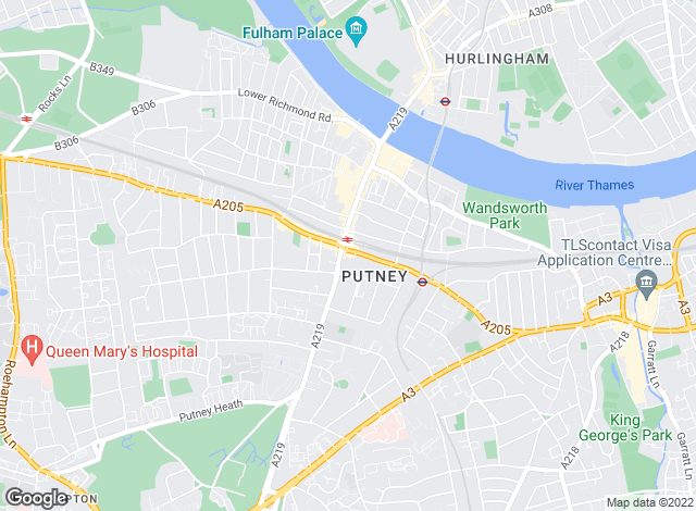 Map for Allan Fuller, Putney