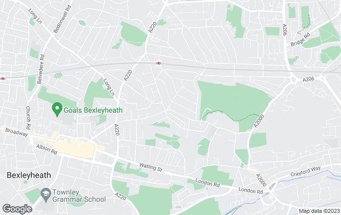 Map for Anthony Martin Estate Agents, Barnehurst