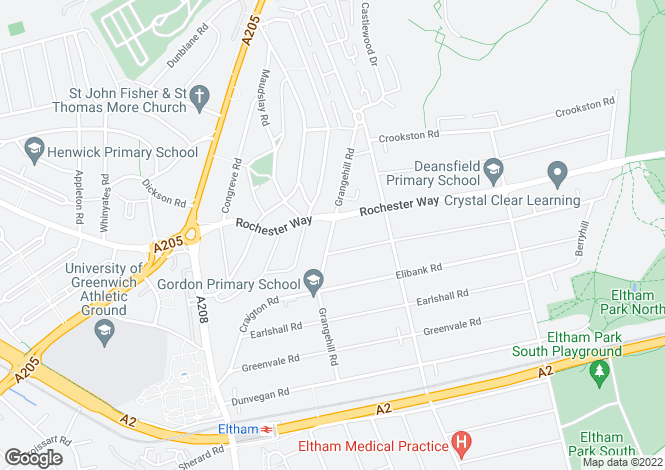 Map for Grangehill Road, Eltham, SE9