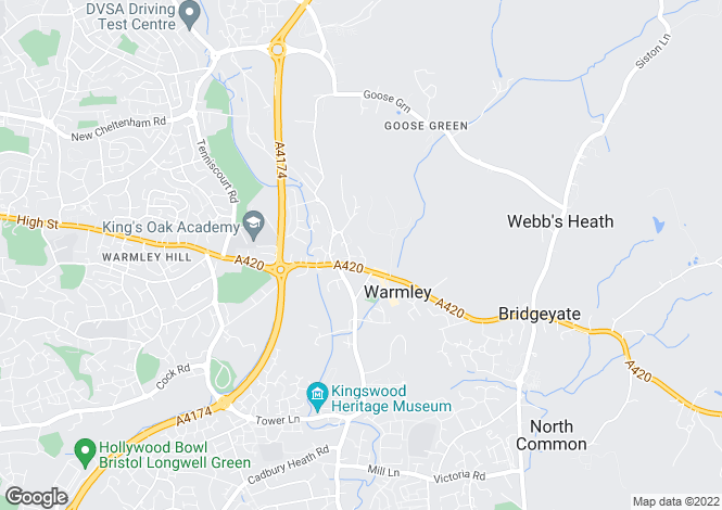 Map for Station Close, Warmley