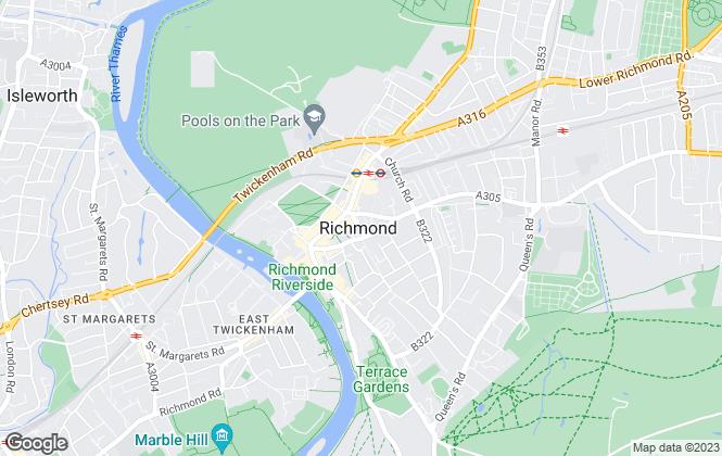 Map for Parkgate, Richmond